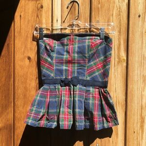 Abercrombie and Fitch| Plaid Print Tube Top